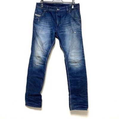 ディーゼル DIESEL ジーンズ サイズ31 メンズ 美品 - ネイビー フルレングス/ダメージ加工【中古】20210306