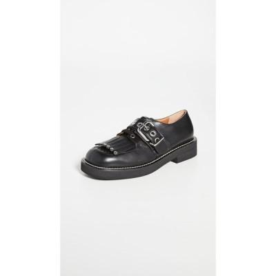 マルニ Marni レディース ローファー・オックスフォード シューズ・靴 Fringe Buckle Oxfords Black