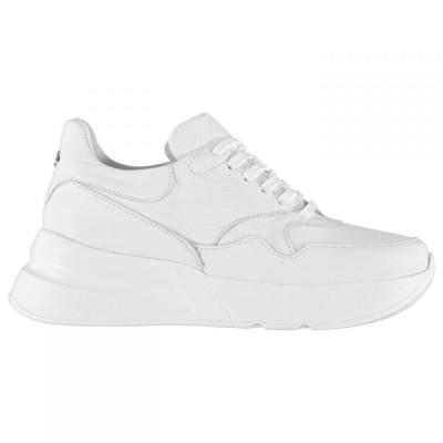 モーダイタリアーナ M by Moda レディース スニーカー シューズ・靴 Chunky Benson Trainers WHITE