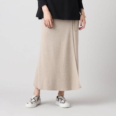 アクアガール aquagirl リブロングラップスカート (ベージュ)