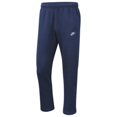 ナイキ メンズ スウェットパンツ Nike Club Open Hem Pants ボトムス Midnight Navy/White