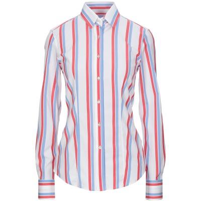 XACUS シャツ ホワイト 40 コットン 97% / ポリウレタン 3% シャツ