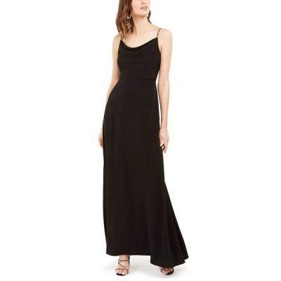 アドリアナ パペル ワンピース トップス レディース Cowlneck A-Line Gown Black