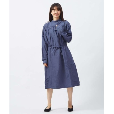 【collex】  バックオープンスモックドレス レディース ブルー F collex