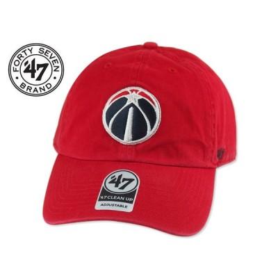 ☆47BRAND【フォーティーセブンブランド】Washington Wizards CLEAN UP CAP RED ワシントン・ウィザーズ レッド 13625 [メンズ レディース]