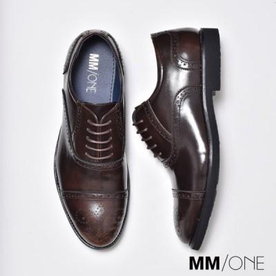 ビジネスシューズ メンズ 合成革靴 ストレートチップ 紳士 おしゃれ 安い 秋冬