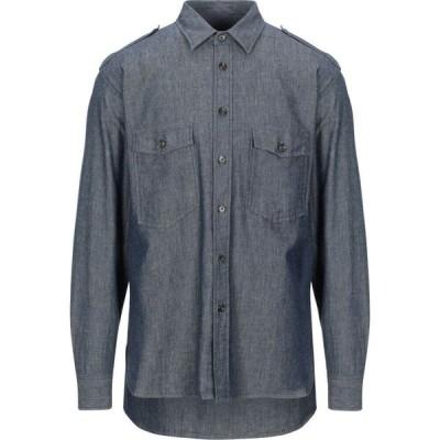 マウロ グリフォーニ MAURO GRIFONI メンズ シャツ デニム トップス denim shirt Blue