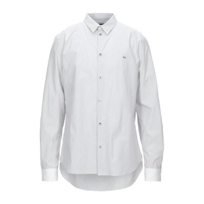 MARC BY MARC JACOBS ストライプ柄シャツ  メンズファッション  トップス  シャツ、カジュアルシャツ  長袖 ホワイト