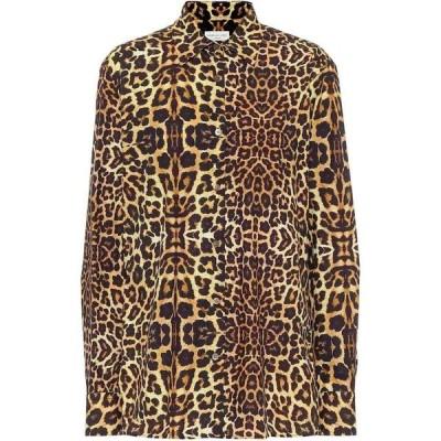 ドリス ヴァン ノッテン Dries Van Noten レディース ブラウス・シャツ トップス Leopard-print cotton shirt Cognac