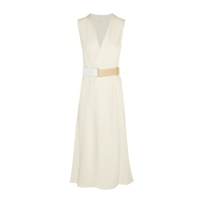 VICTORIA BECKHAM 7分丈ワンピース・ドレス アイボリー 10 アセテート 69% / レーヨン 31% 7分丈ワンピース・ドレス