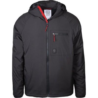 トポ・デザイン ジャケット&ブルゾン メンズ アウター Topo Designs Men's Puffer Hoodie Jacket Black
