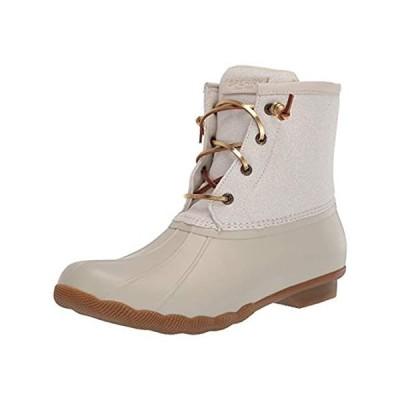 Sperry Women's Saltwater Metallic Ivory Fashion Boot, 10