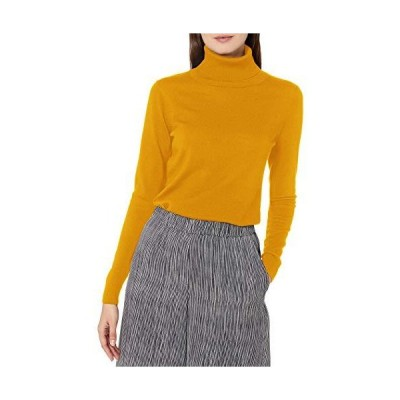 Pendleton Women's Timeless Merino Wool Turtleneck Sweater, Gold Heather, XL