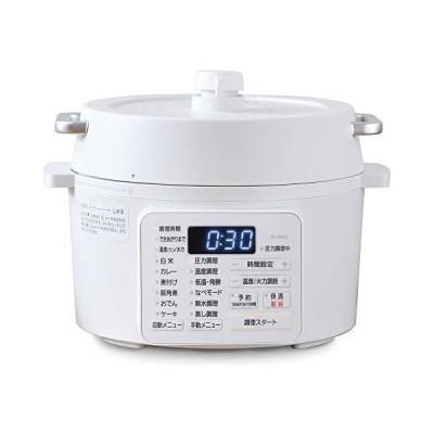 アイリスオーヤマ 電気圧力鍋 2.2L 2WAYタイプ グリル鍋 6種類自動メニュー 65メニュー掲載レシピブック付き (ホワイト 2.2L)