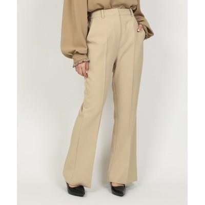 PUNYUS / センタープレスフレアパンツ WOMEN パンツ > スラックス