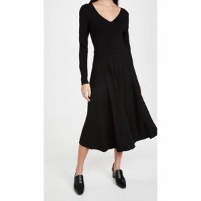 ヴィンス Vince レディース ワンピース Vネック ワンピース・ドレス Mixed Media V Neck Dress Black
