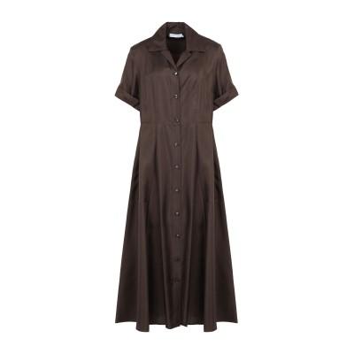 カルバン クライン CALVIN KLEIN 7分丈ワンピース・ドレス ココア 40 シルク 100% 7分丈ワンピース・ドレス