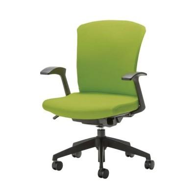 事務椅子 オフィスチェア 椅子 WITチェア 固定肘 樹脂脚 背パット付 WTS-45+WTS-AS