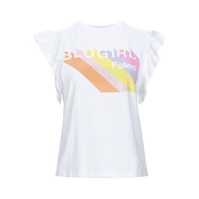 ブルーガール ブルマリン BLUGIRL BLUMARINE T シャツ ホワイト 46 コットン 95% / ポリウレタン 5% T シャツ
