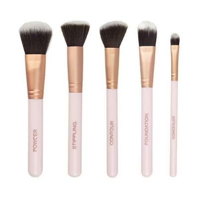 新品Ellen Tracy Five Face Essential Brush Collection for Powder, Stippling, Contour, Foundation and Concealer, Professional, Blending Cosm