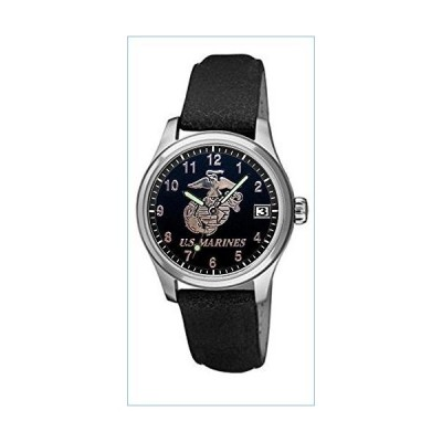Aqua Force U.S. Marine Corps Stainless Steel and Leather Mens Watch並行輸入品