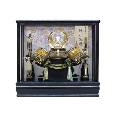 8号徳川兜ケース飾り-YN20383GKC-間口33×奥行23×高さ30cm-五月人形ケース-ガラスケース