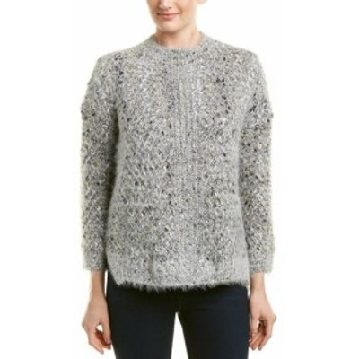 Allison  ファッション トップス Allison Fuzzy Knit Sweater L Grey