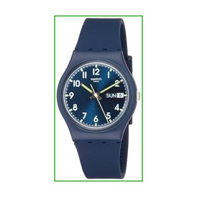 Swatch Originals Swiss-Quartz Silicone Strap, Blue, 19 Casual Watch (Model: