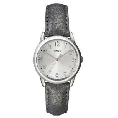 腕時計 タイメックス Timex レディースクラシック クォーツ シルバー ダイヤル レザー ストラップ 腕時計 T2P081 NEW