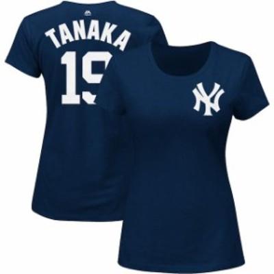 Majestic マジェスティック スポーツ用品  Majestic Masahiro Tanaka New York Yankees Womens Navy Name and Number T-Sh