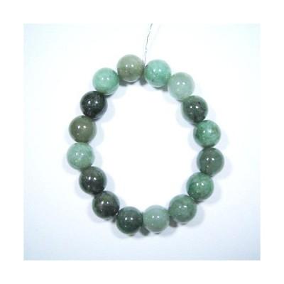 天然石翡翠の開運・健康ブレスレット(12mm玉)