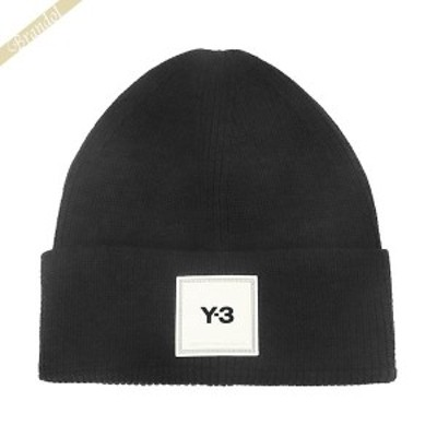 ワイスリー Y-3 メンズ 帽子 BEANIE クスエアロゴ ニットキャップ ビーニー ブラック H54025 BLACK