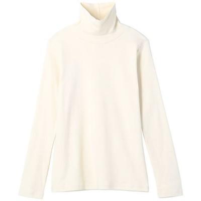 UVカットルーズネックTシャツ(長袖)(2丈展開・綿100%・洗濯機OK)/オフホワイト/L-レギュラー