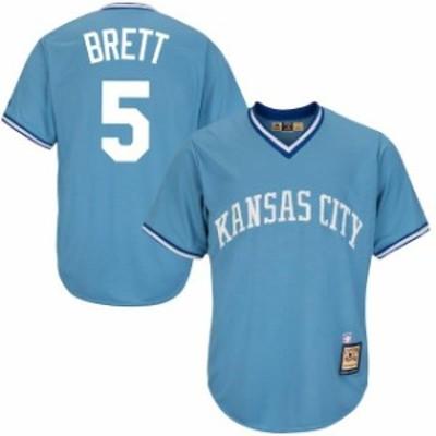 Majestic マジェスティック スポーツ用品  Majestic George Brett Kansas City Royals Light Blue Cool Base Cooperstown