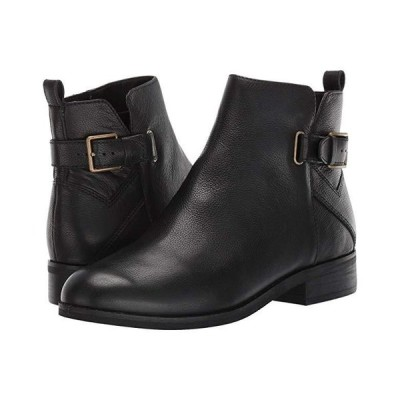コールハーン Hollyn Bootie レディース ブーツ Black Tumbled Leather/Black Raw Stack/Antique Brass Hardware