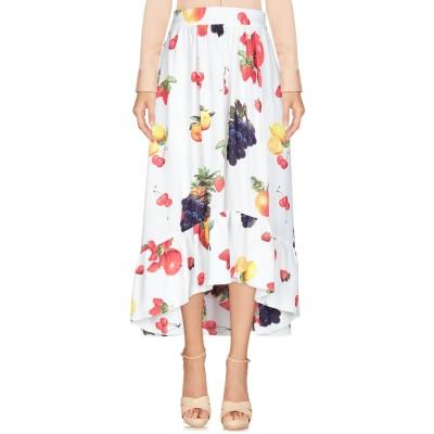エムエスジーエム MSGM 7分丈スカート ホワイト 40 ポリエステル 100% 7分丈スカート
