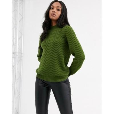 ワイエーエス レディース ニット・セーター アウター Y.A.S textured high neck knitted sweater