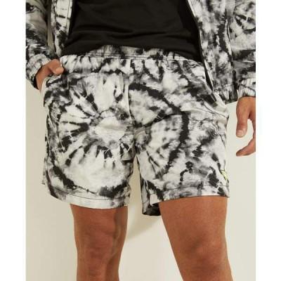ゲス カジュアルパンツ ボトムス メンズ Tie-Dye Crinkle Shorts Gray