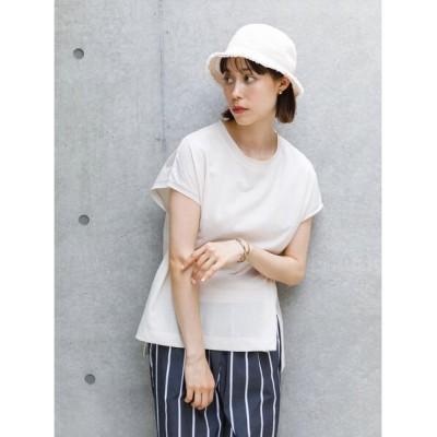 (koe/コエ)梨地天竺フレンチスリーブTシャツ/レディース ホワイト