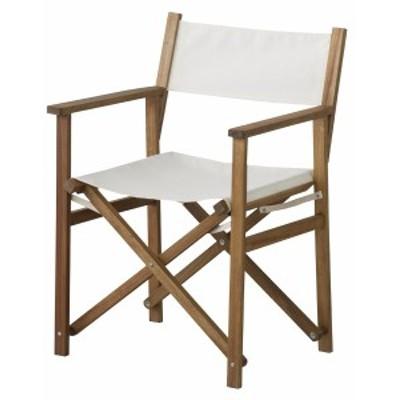 単品 パティオディレクターチェア (イス 椅子) (数量1) ホワイト 白  送料無料