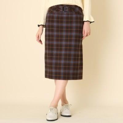 クチュールブローチ(Couture Brooch)/【WEB限定サイズ(LL)あり手洗い可】タータンチェックタイトスカート