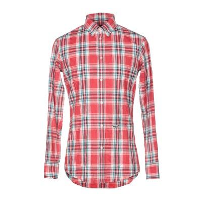 ディースクエアード DSQUARED2 シャツ レッド 44 コットン 86% / 麻 7% / ラミー 7% シャツ
