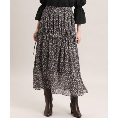 スカート 《Maglie par ef-de》ミックスフラワースカート