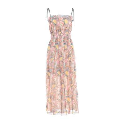 ジャストカヴァリ JUST CAVALLI 7分丈ワンピース・ドレス ピンク 40 ポリエステル 100% 7分丈ワンピース・ドレス