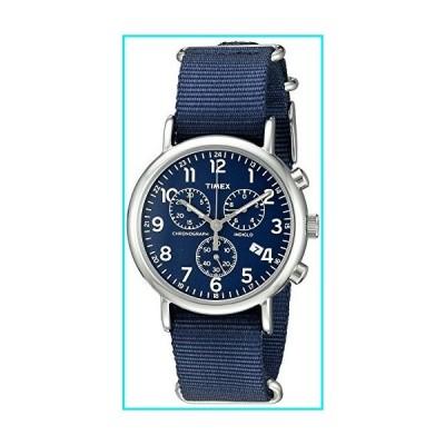 Timex Unisex TW2P71300 Weekender Chrono Blue Double-Layered Nylon Slip-Thru Strap Watch【並行輸入品】