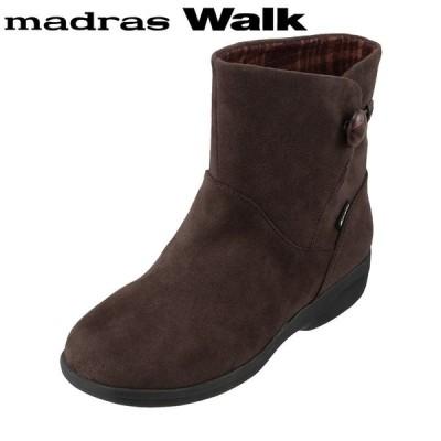 マドラスウォーク madras Walk MWL2109 レディース   ブーツ ショートブーツ   防水 雨の日   ダークブラウン