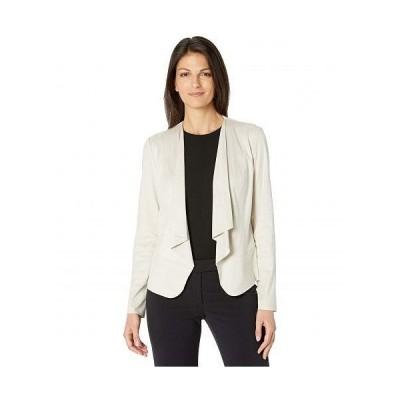 Anne Klein アン クライン レディース 女性用 ファッション アウター ジャケット コート ブレザー Suede Drape Front Jacket - Stone