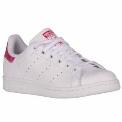 即納 アディダス オリジナルス キッズ/レディース adidas Originals Stan Smith J スニーカーWhite/Bold Pink スタンスミス