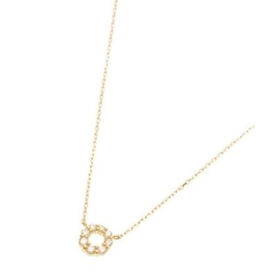 ネックレス K18ダイヤモンド グラデサークル ネックレス大