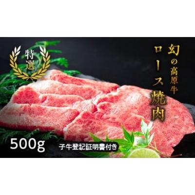 大川原高原牛特選ロース焼肉500g※クレジット決済のみ ※2021年1月中旬頃から発送